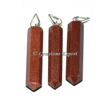 Brown Sunstone Pencil Pendants