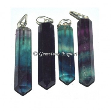 Multi Flourite Pencil Pendants