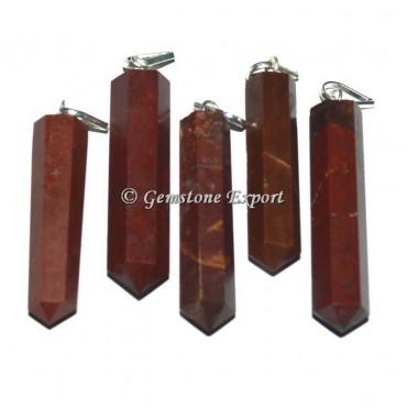 Red Jasper Pencil Pendants