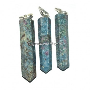 Ruby Zoisite Pencil Pendants