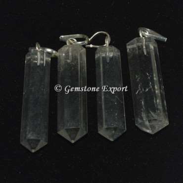 Crystal Quartz Pencil Pendants