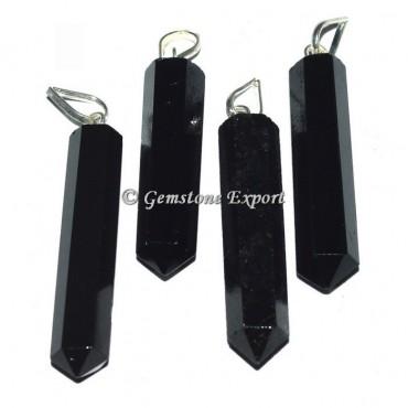 Black Agate Pencil Pendants