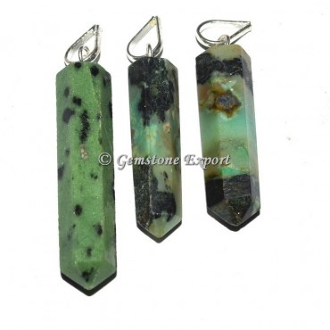 Green Zoisite Pencil Pendants