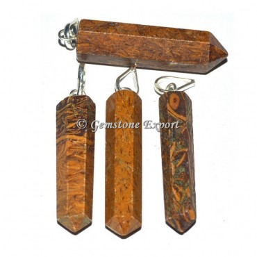 Calligraphy Stone Pencil Pendants