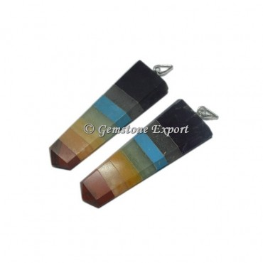 7 Chakra Bonded Flat Pencil Pendants