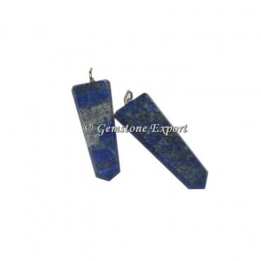 Lapis Lazuli Flat Pencil Pendants