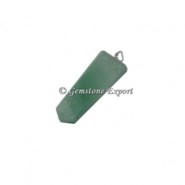 Green Aventurine Flat Pencil Pendants