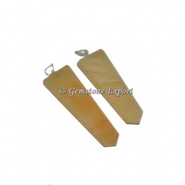 Yellow Aventurine Flat Pencil Pendants