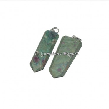 Ruby Zoisite Flat Pencil Pendants