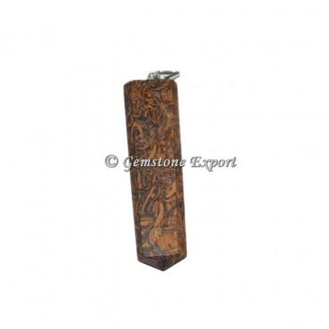 Calligraphy Stone Pencil Pendants
