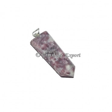 Lepidolite Flat Pencil Pendants