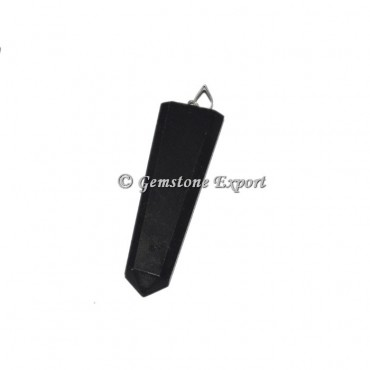 Black Tourmaline Flat Pencil Pendants