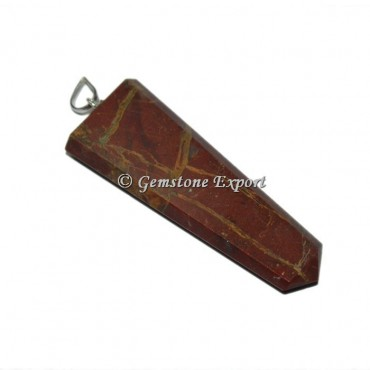 Red Jasper Flat Pencil Pendants