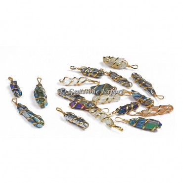 Mix Aura Pencil Golden Pendants