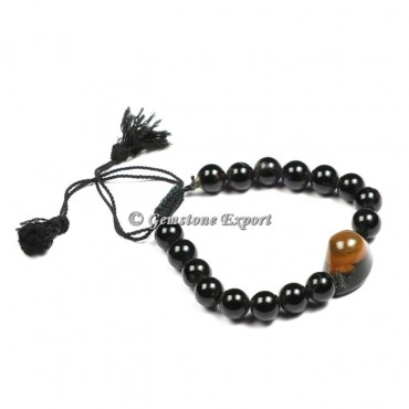 Black Tourmaline With Eye Yoga Bracelets