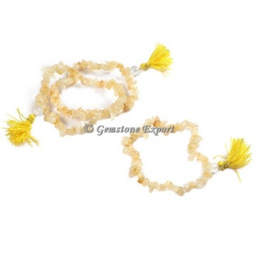 Golden Quartz Chips Yoga Bracelets