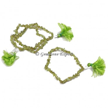 Peridot Chips Yoga Bracelets