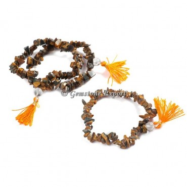 Tiger Eye Chips Yoga Bracelets