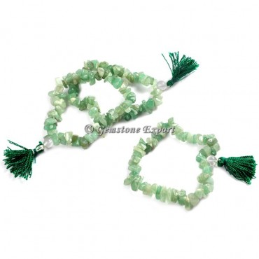 Green Aventurine Chips Yoga Bracelets