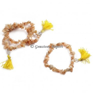 Golden Quartz Chips Yoga Bracelets