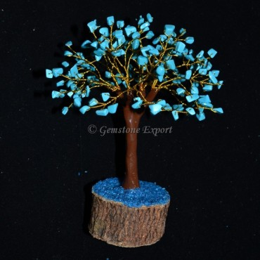 Turquoise Stone 300pcs Chips Trunk Tree