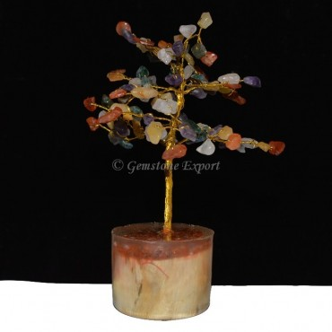 160pcs Chips  Chakra Stone Tree with Orgone Base