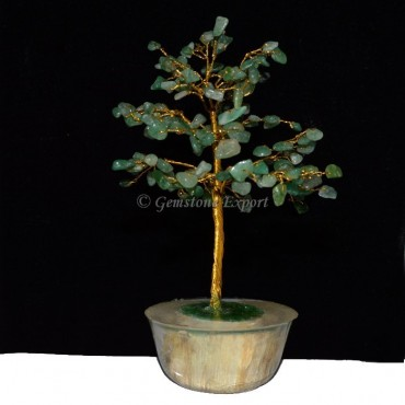 Green Jade 300pcs Chips Tree with Orgone Base