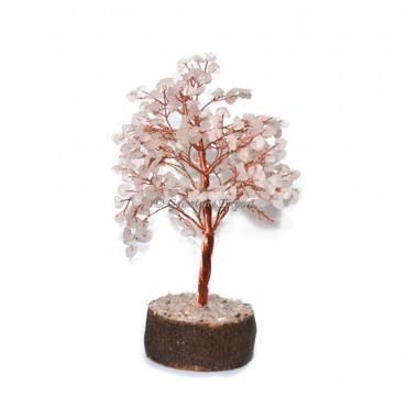 Rose Quartz With Copper Wire Tree