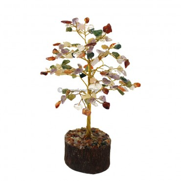 Multi Stone Golden Wire Tree(150 Chips)