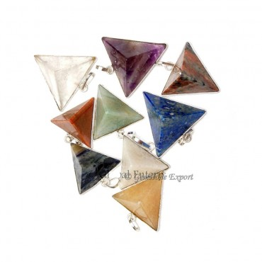 Mix Gemstone Healing Pyramids Pendants