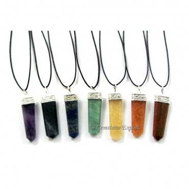 Chakra Pendants With Lather Cord