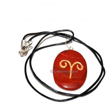 Red Jasper Zodiac Signs Pendants