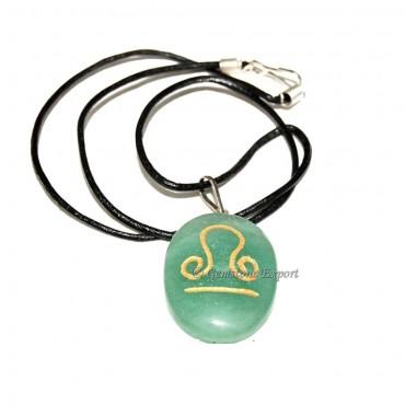 Green Aventruine Zodiac Signs Pendants