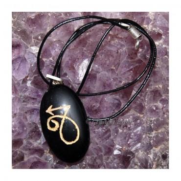 Black Agate Zodiac Signs Pendants