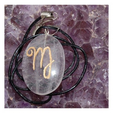 Crystal Quartz Zodiac Signs Pendants