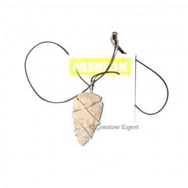 Agate Stone Arrowheads Wrap Pendants