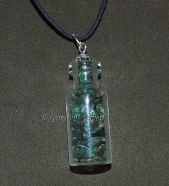 Green Jade Bottle Pendants