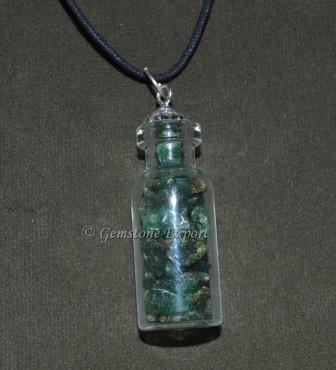 Green Jade Bottle Pendants