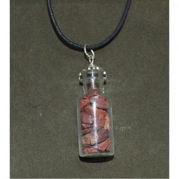 Red Jasper Bottle Pendants