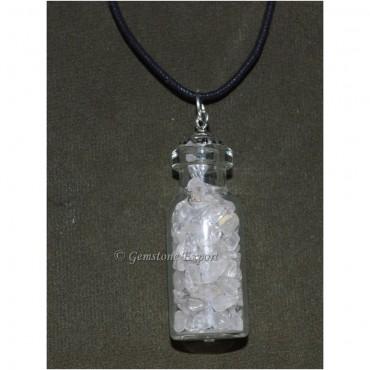 Clear Quartz Bottle Pendants