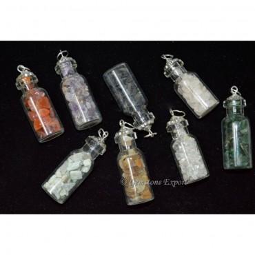 Mix Gemstone Bottle Pendants without Cord