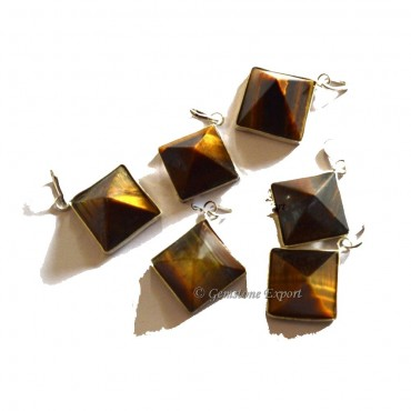 Tiger Eye Pyramids Pendants
