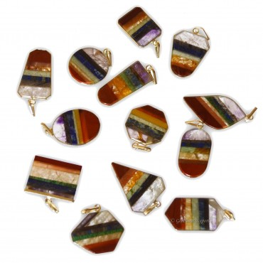 Multi Shape Stone Pendants