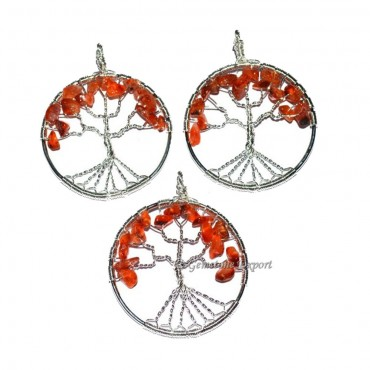 Carnellina Flower of Life Tree Pendants