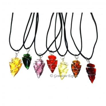 Mix Obsidian Arrowheads Pendants
