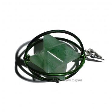 Green Aventurine Merkaba Cage Pendants