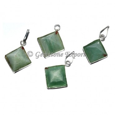 Green Aventurine Pyramid Pendants