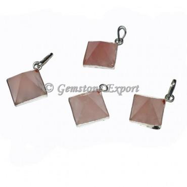 Rose Quartz Pyramids Pendants