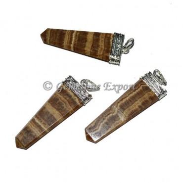 Aragonite Flat Pencil Pendants