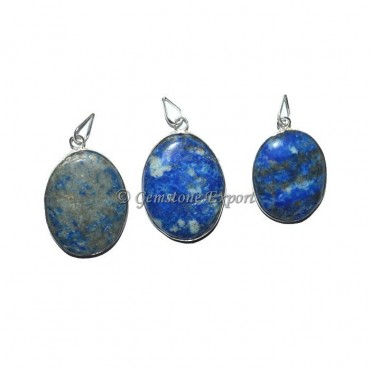 Lapis Lazuli Oval Pendants